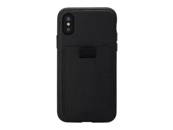 Bondir Apple iPhone X/XS Genuine Slim and Lightweight Leather Wallet Case, Black (New Open Box)