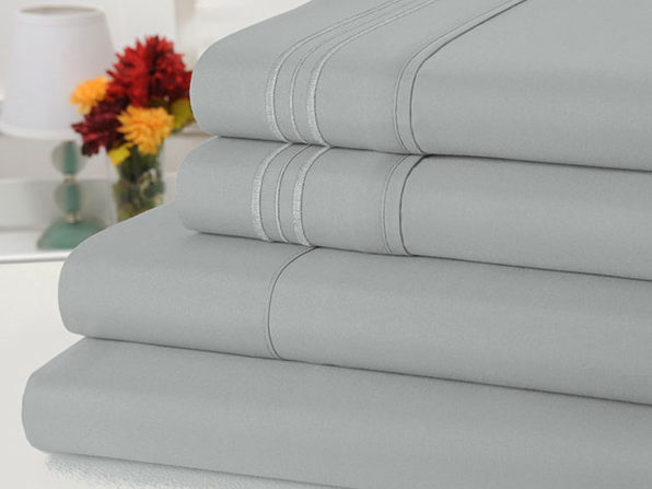 Bamboo Comfort 4-Piece Luxury King Sheet Set (Silver)