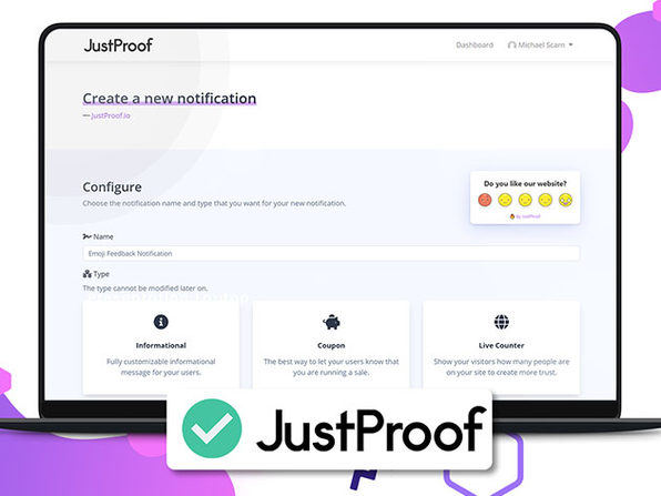 JustProof Social Proof Notifier Startup Plan: 5-Yr Subscription