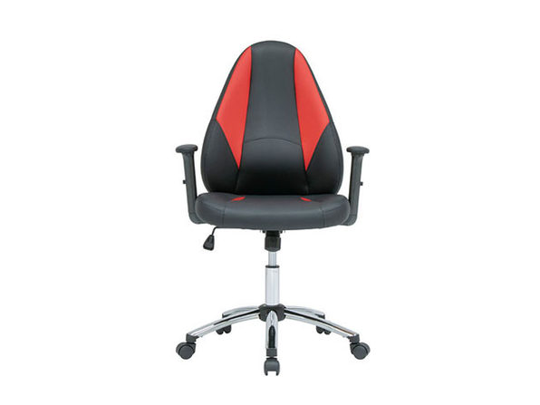 Contoured Gamer Chair with Tilt & Height Adjustable Seat
