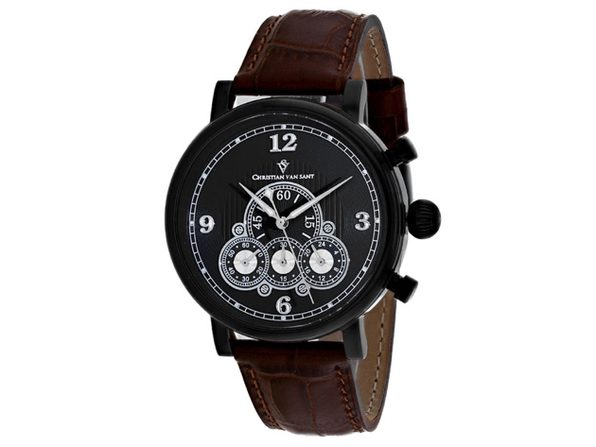 Christian Van Sant Men's Black Dial Watch - CV0713