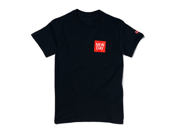 New Day Tee Black 2XL - Product Image