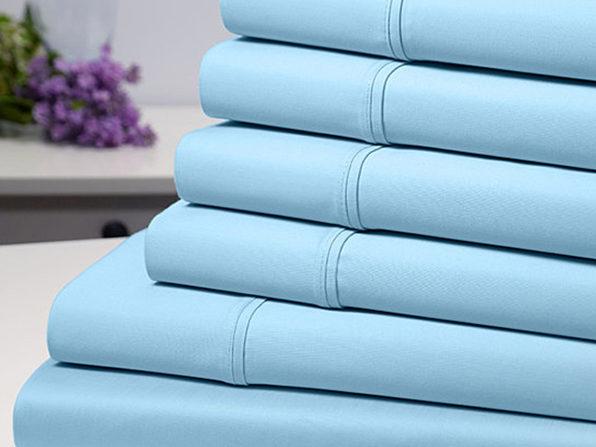 Bamboo Comfort 6 Piece Luxury Sheet Set - Aqua (Queen) - Product Image
