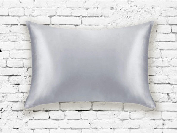 Silk Pillowcase in Silver - Product Image