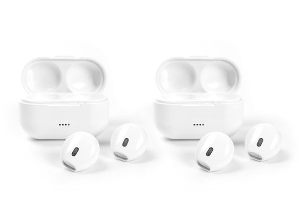 AirTaps Wireless Bluetooth Earbuds with Charging Case: 2-Pack