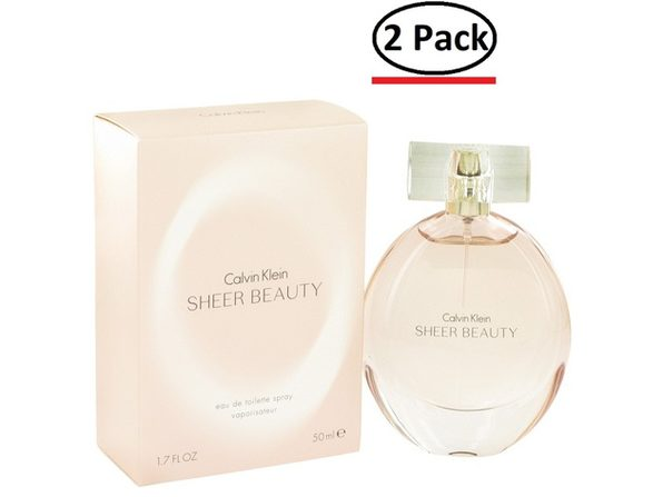 Sheer Beauty by Calvin Klein Eau De Toilette Spray 1.7 oz for Women (Package of 2) - Product Image