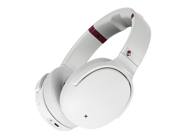 Skullcandy Venue Active Noise Canceling Wireless Headphones (White/Crimson)