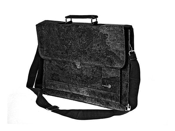 EARTH Cork Faro Briefcase (Black)