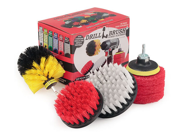 Drill Brush® Cleaning Supply Kit with Cleaning Solution