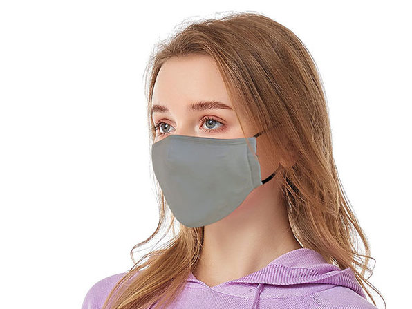 Reusable Ear Loop Face Mask 8-Pack Gray - Product Image