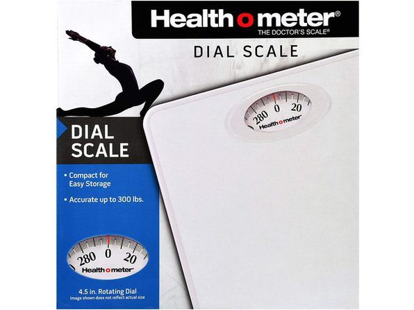 Health O Meter HAB700DQ201 Dial Personal Weight Scale, White - White