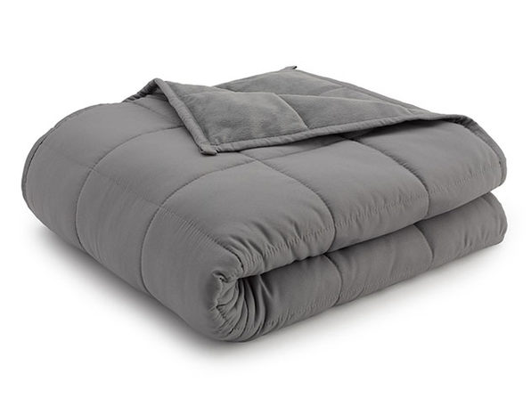 Weighted Anti-Anxiety Blanket (Grey/Grey, 15Lb)
