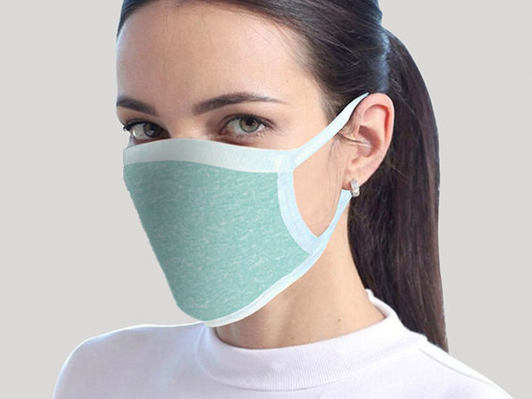 Reusable Face Mask 2-Pack Teal - Product Image