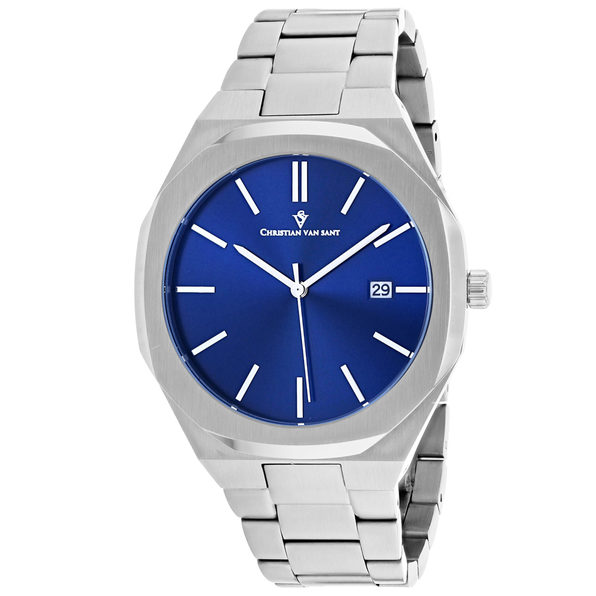 Christian Van Sant Men's Octavius Slim Blue Dial Watch - CV0522