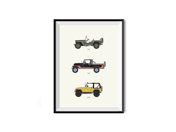 The Grandfather of 4x4 Jeep Poster