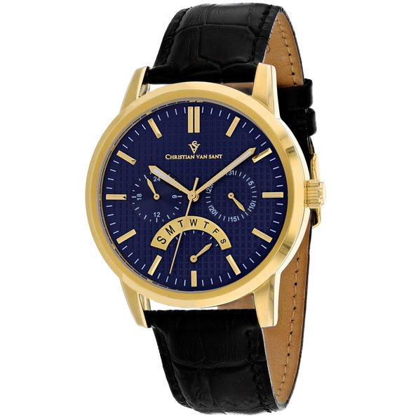 Christian Van Sant Men's Alden Blue Dial Watch - CV0326