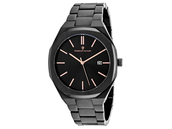 Christian Van Sant Men's Octavius Slim Black Dial Watch - CV0525