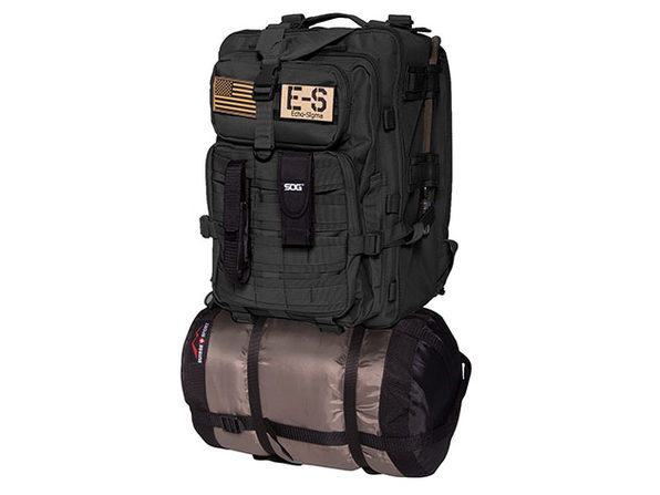 Bug Out Bag Complete Emergency Kit w/KN95 Mask - Black - Product Image