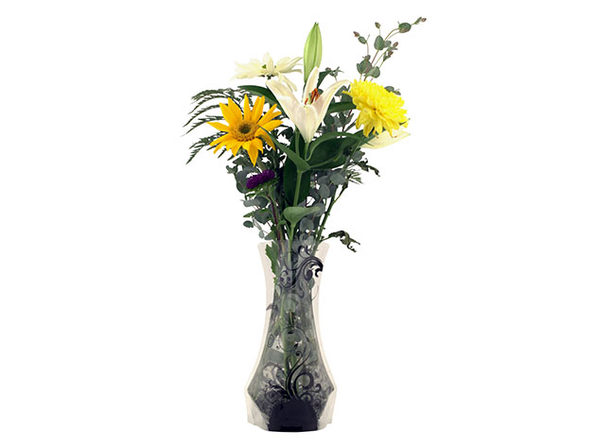 Bloomers Plastic Foldable Reusable Vase: 6-Pack