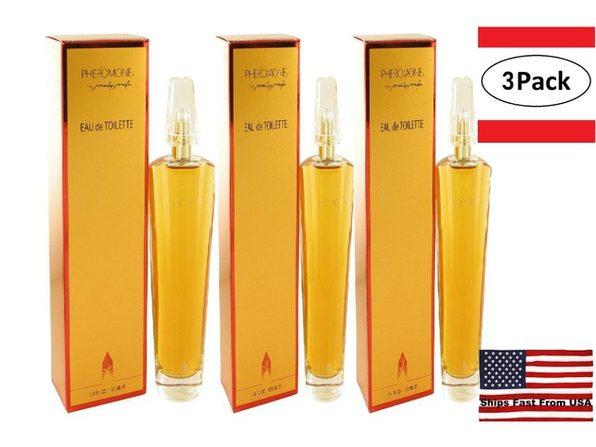 3 Pack PHEROMONE by Marilyn Miglin Eau De Toilette Spray 3.4 oz for Women - Product Image