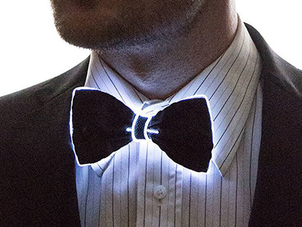 Light Up Bow Tie (White)