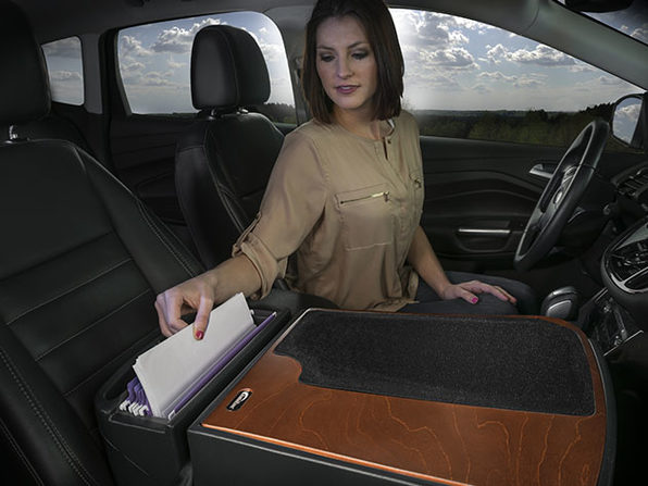 Efficiency GripMaster Car Desk & Organizer (Mahogany)