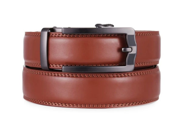 "Business Classic Ratchet Belt – Chestnut (Adjustable 38""- 54"" Waist)"