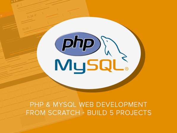 PHP & MySQL Web Development From Scratch - Build 5 Projects - Product Image