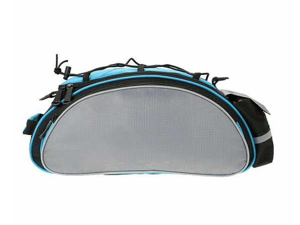 Double Carrying Bicycle Rear Bag (Blue/Black)