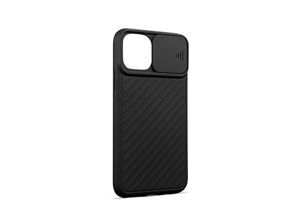 iPhone 12/12 Pro Case with Camera Cover Black - Product Image