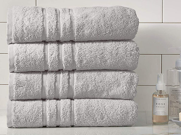 Turkish Cotton 700 GSM Bath Towels: Set of 4 (Grey)