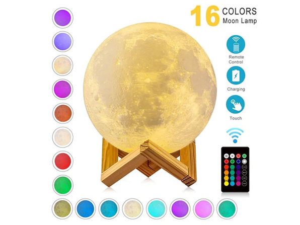 "The Original 16 Color Moon Lamp™ (8"")"