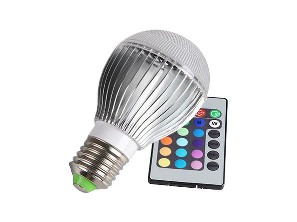Color-Changing LED Globe Bulb with Remote