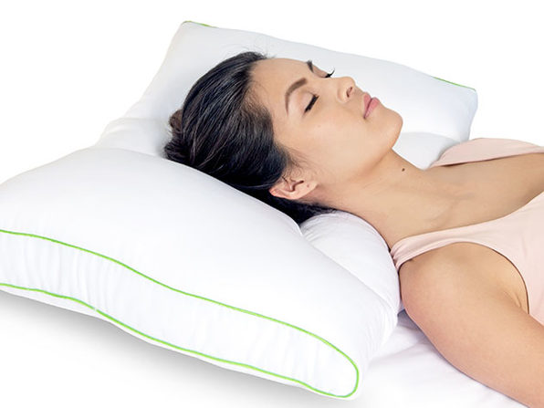 Sleep Yoga®: Dual-Neck Pillow with Pillow Cover