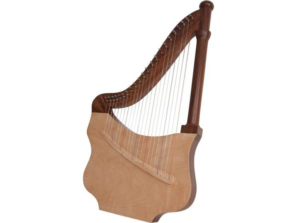 "Mid-East LUTH WorldMusic Roosebeck Lute Harp 27"" High, 22 Nylon Strings (Used, Damaged Retail Box)"