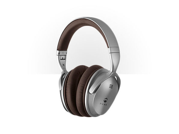 Paww WaveSound 2.1 Low Latency Bluetooth 4.2 Over Ear Headphones (Silver/Brown)