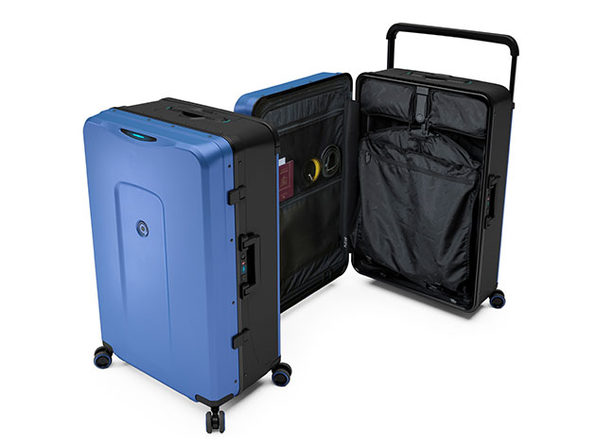 Plevo: Up - The World's First Vertical Luggage (Blue)