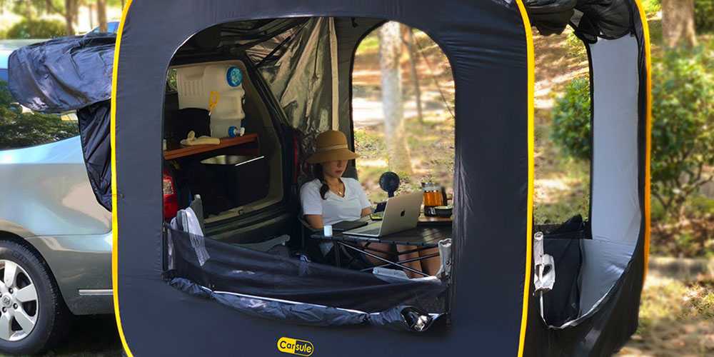 CARSULE Pop-Up Cabin for Your Car, on sale for $299.99 (20% off)