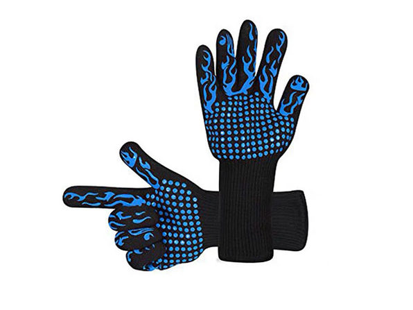 Heat Resistant BBQ Gloves (Blue)