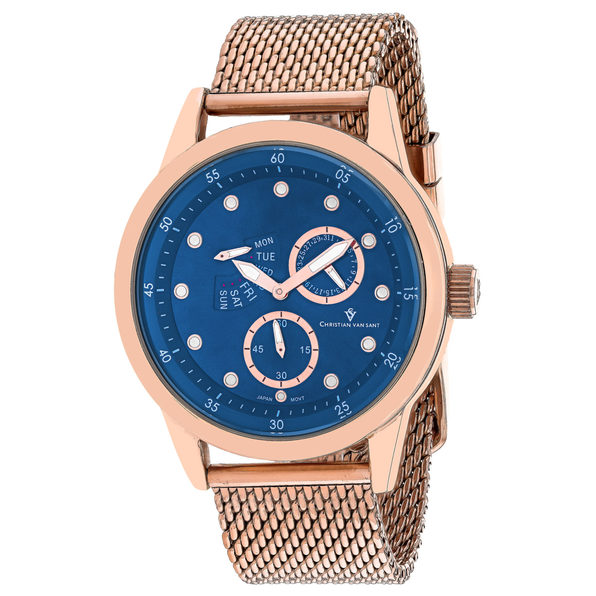 Christian Van Sant Men's Rio Blue Dial Watch - CV8715