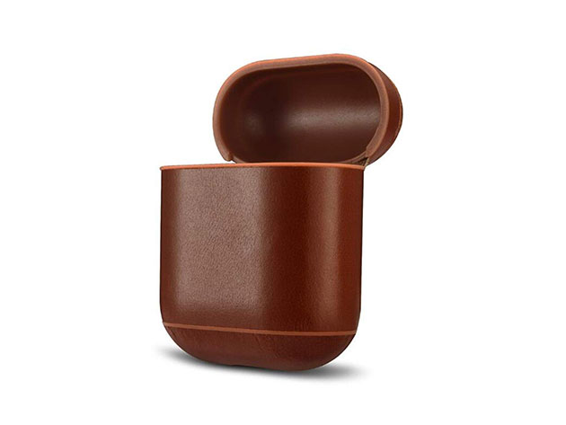 Leather AirPod Case (Classic/Dark Brown) | StackSocial