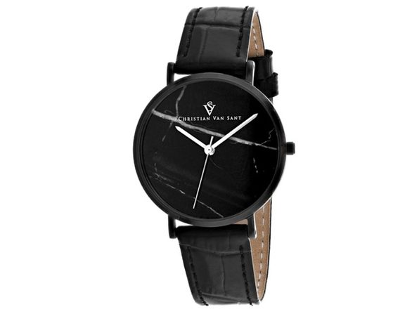 Christian Van Sant Women's Lotus Black Dial Watch - CV0424 - Product Image