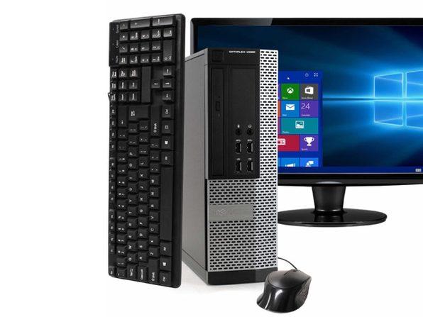 """Dell OptiPlex 9020 Desktop PC, 3.2 GHz Intel i5 Quad Core Gen 4, 8GB DDR3 RAM, 500GB SATA HD, Windows 10 Professional 64 bit, 22"""" Widescreen Screen (Renewed)"""