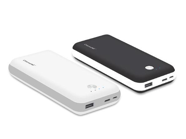 Portable 20,000mAh Power Bank (White)