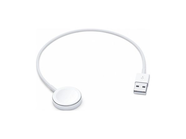 Apple Watch Magnetic Charger to USB Cable, a Completely Sealed System Free of Exposed Contacts. 0.3 Meter, White (New Open Box) - Product Image