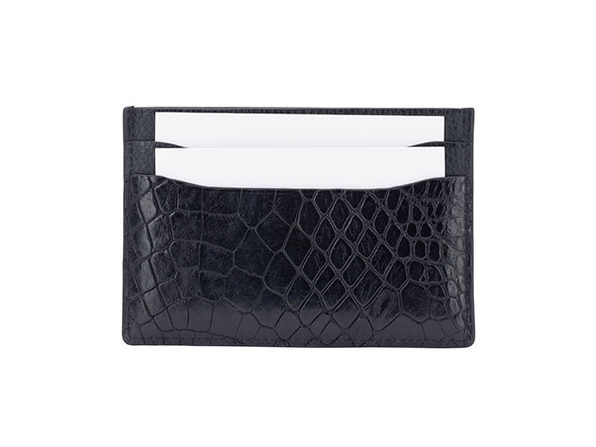 Andre Giroud Exotic Alligator Card Holder