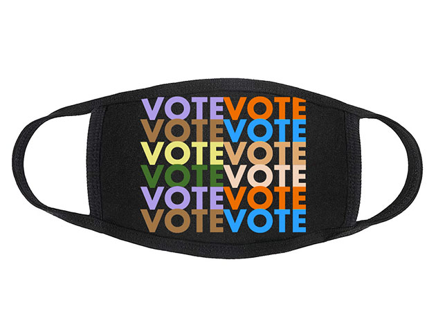 VOTE Masks, on sale for $15.99 when you use coupon code OCTSALE20 at checkout