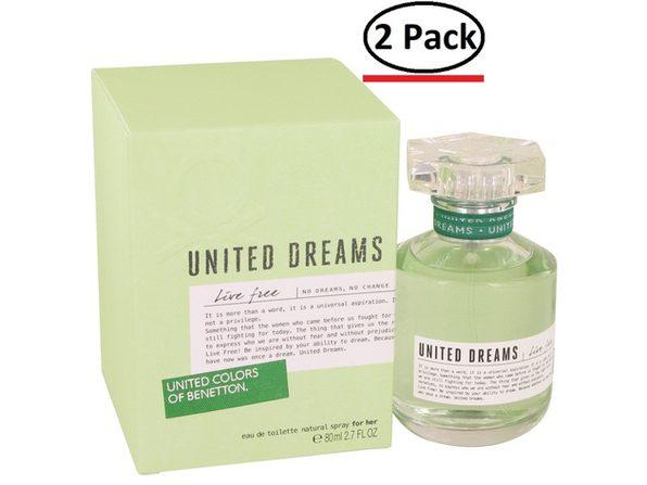 United Dreams Live Free by Benetton Eau De Toilette Spray 2.7 oz for Women (Package of 2) - Product Image