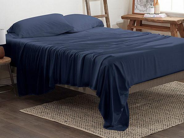4-Piece Luxury 100% Rayon Bamboo Sheet Set // Navy (Queen)