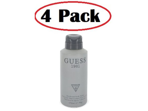 4 Pack of Guess 1981 by Guess Body Spray 5 oz - Product Image